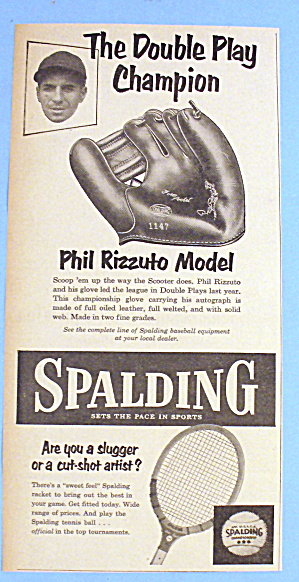1953 Spalding Baseball Glove With Phil Rizzuto Model