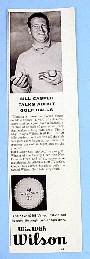 1958 Wilson Golf Balls with Bill Casper (Image1)