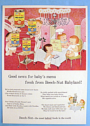 1960 Beech Nut Baby Food with Beech Nut Babyland (Image1)