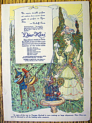 1910 Djer-Kiss Toiletries with Lovely Woman (Image1)