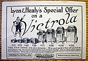 1913 Lyon & Healy's Victrola With Different Victrolas