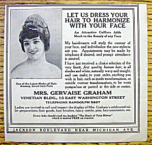 1913 Mrs. Gervaise Graham with Let Us Dress Your Hair (Image1)