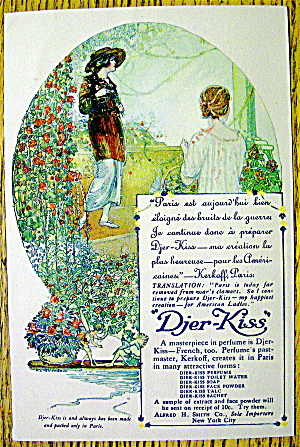 1910 Djer Kiss Perfume with Two Women (Image1)