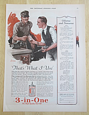 1926 3 in One Tool Oil with Men Working on Tools  (Image1)