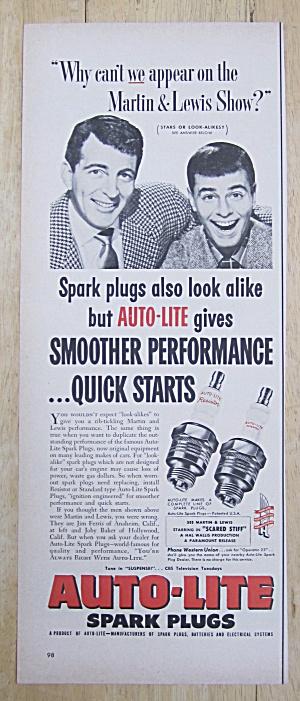 1953 Auto Lite Spark Plugs w/ Dean Martin & Jerry Lewis (Image1)