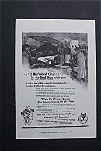 1918 Ad: American Chain Company (Image1)