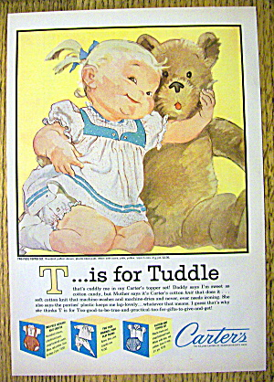 1960 Carter Two-Piece Topper Set w/ Little Girl & Bear (Image1)