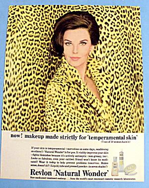 1963 Revlon Natural Wonder w/ Lovely Woman in Leopard (Image1)
