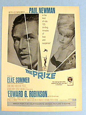 1963 The Prize With Paul Newman & Elke Sommer