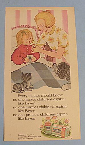 1969 Bayer Aspirin with Mom Giving Little Girl Aspirin (Image1)