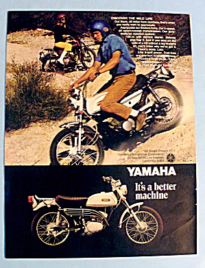 1969 Yamaha 125 Single Enduro W/ Man On Bike