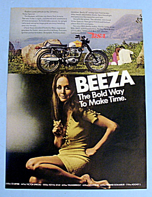 1969 Bsa Beeza With Lovely Women