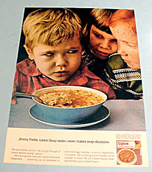 1965 Lipton Soup With Boy Staring At Other Children