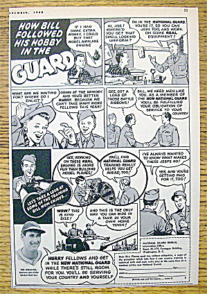 1948 National Guard With Baseball's Great Ted Williams