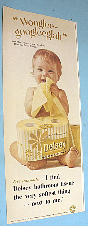 1965 Delsey Bathroom Tissue with Baby Feeling Tissue (Image1)