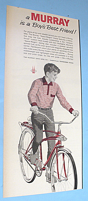 1965 Murray Space Weight Frame Bicycle With Boy On Bike