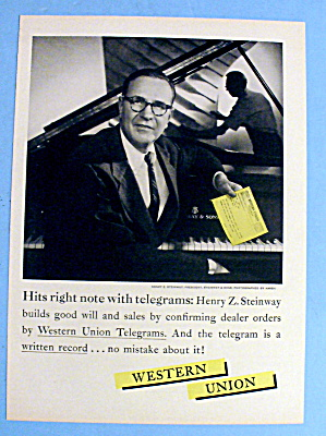 1958 Western Union With Henry Steinway (Steinway Piano)