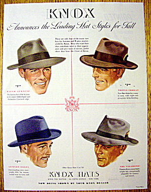 1941 Knox Hats With Fifth Avenue, Vagabond & More