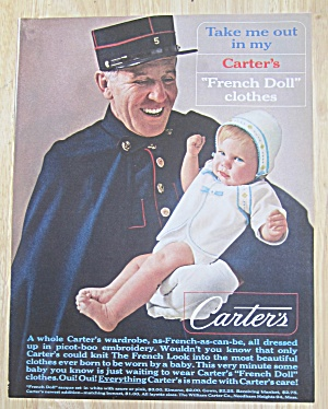 1963 Carter's French Doll Clothes with Baby & Man  (Image1)
