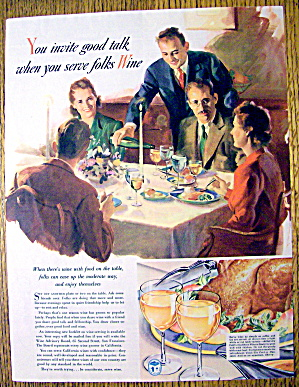 1941 Wine with a Casual Dinner Party with People (Image1)