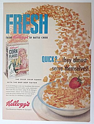 1950's Kellogg's Corn Flakes w/ Corn Flakes In A Bowl  (Image1)