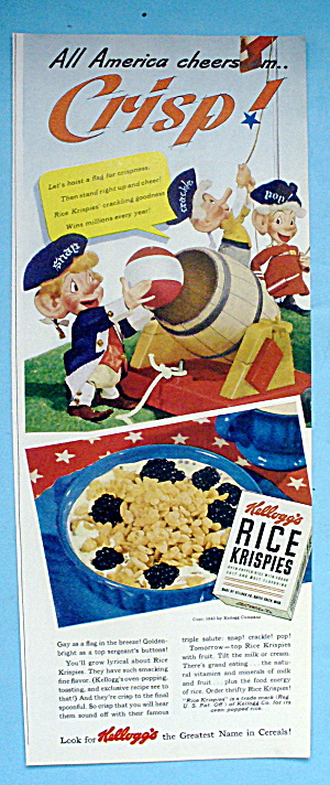 1942 Kellogg's Rice Krispies w/Snap, Crackle & Pop Men (Image1)