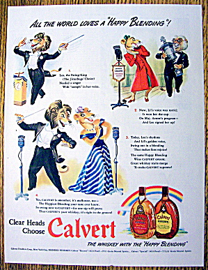 1942 Calvert Whiskey With Leo The Swing King