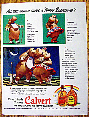 1942 Calvert Whiskey with Horace & Hazel Hippo (Image1)