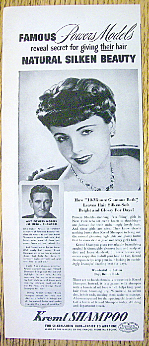 1943 Kreml Shampoo with a Lovely Powers Model (Image1)