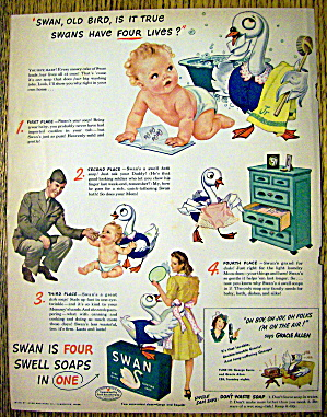 1944 Swan Soap with 4 Swell Ways to Use Swan (Image1)