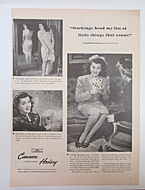 1945 Cannon Hosiery with Ann Rutherford  (Image1)