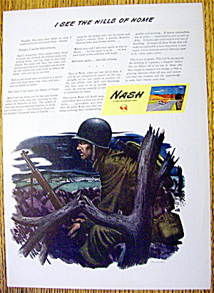1944 Nash-kelvinator With A Soldier With A Gun