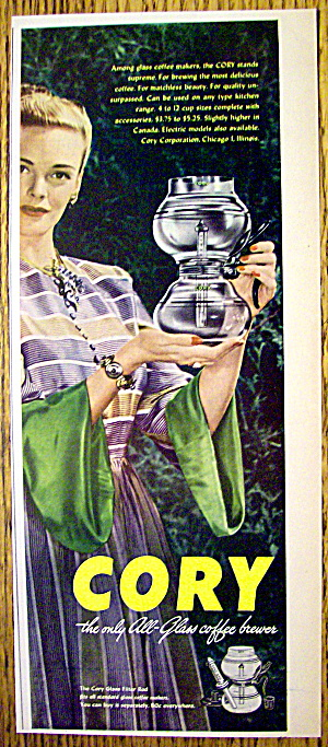 1946 Cory All Glass Coffee Brewer w/Woman Holding Pot (Image1)