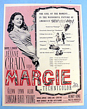 1946 Margie With Jeanne Crain (Girl Of The Moment)