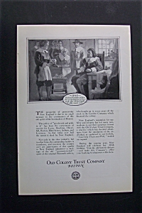 Vintage Ad: 1920 Old Colony Trust Company (Image1)