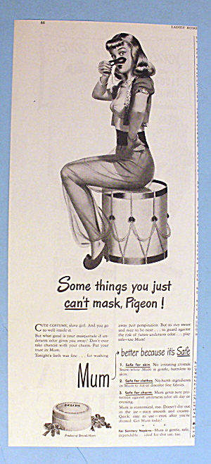 1946 Mum Deodorant with Woman as Jeannie on a Drum (Image1)