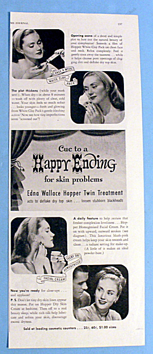 1946 Happy Ending Facial Cream With Edna Wallace Hopper