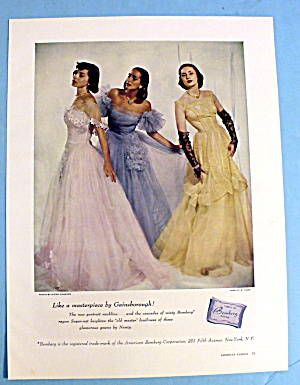1947 Bemberg Gowns with 3 Women in Gowns (Image1)