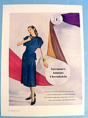 1947 Foreman Cherubskin with Woman in Blue Dress (Image1)