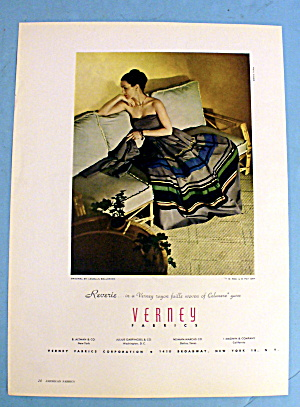 1947 Verney Fabrics with Woman in Reverie (Image1)