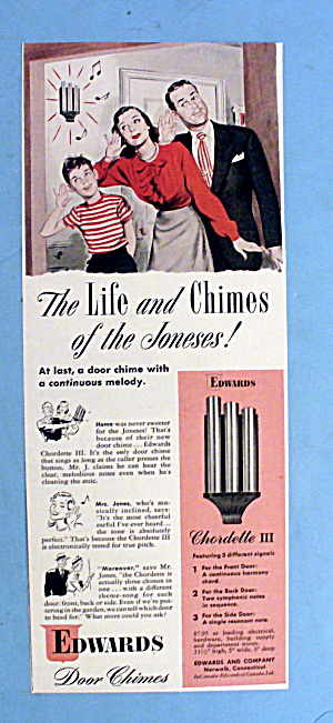 1948 Edwards Door Chimes with Family Listening to Bell (Image1)