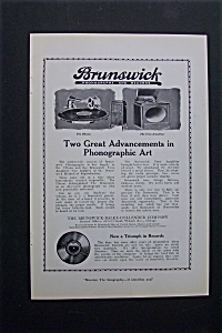 Vintage Ad: 1920 Brunswick Records (Image1)
