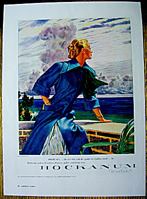 1948 Hockanum Woolens w/Lovely Woman in Tropic Sea (Image1)