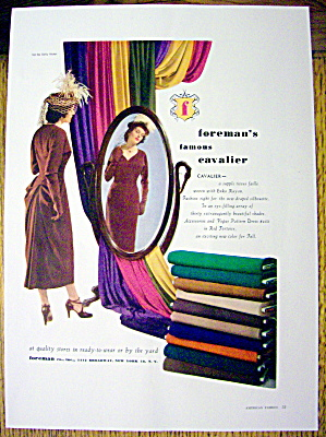 1948 Foreman Cavalier Fabric w/ Woman Looking in Mirror (Image1)