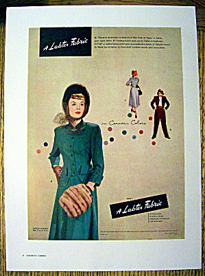 1948 Labtex Fabric w/2 Piece Green Dress (Image1)