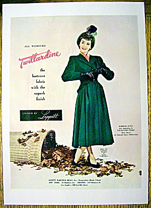 1948 Lippitt Twillardine Fabric w/Marsha Hunt-Raw Deal (Image1)
