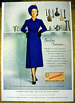 1948 Unidure W/ Woman In Blue Dress