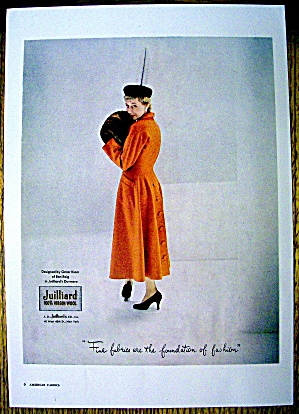 1948 Juilliard Wool W/woman In Omar Kiam Design