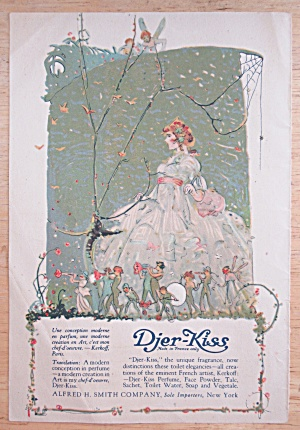1918 Djer Kiss with Lovely Woman In A Dress  (Image1)