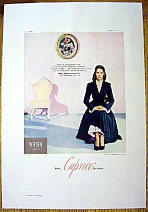 1948 Verney Fabric W/ Woman In Petticoat